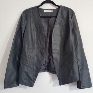 Ricki's Black Faux Leather Jacket Size XL
